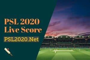 PSL 2020 Live Score