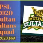 PSL 2020 Multan Sultans Squad