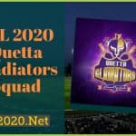 PSL 2020 Quetta Gladiators Squad, Schedule, News, Scores for PSL 5