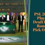 PSL 2020 Player Draft