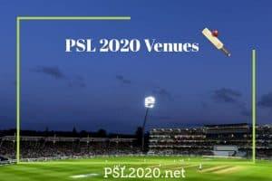 PSL 2020 Venues
