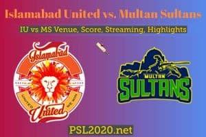 Islamabad United vs. Multan Sultans