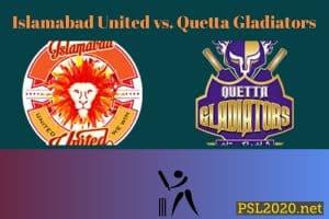 Islamabad United vs. Quetta Gladiators