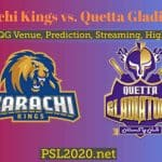 Karachi Kings vs Quetta Gladiators Highlights, Live Streaming, PSL 2020