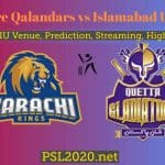 Lahore Qalandars vs Islamabad United Highlights, Live Score, PSL 2020