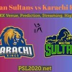 Multan Sultans vs Karachi Kings Highlights Free Live Streaming PSL 2020