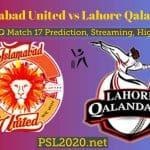 Islamabad United vs Lahore Qalandars Predictions, Live Score, PSL 2020