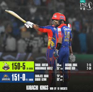 Karachi Kings Win