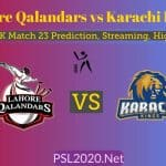 Lahore Qalandars vs Karachi Kings Match 23 Highlights, Live Streaming