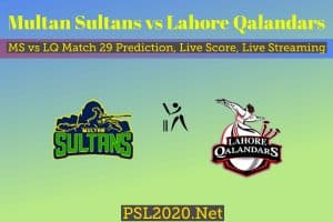 Multan Sultans vs Lahore Qalandars